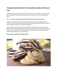 Tempted towards cookies Try innovative cookies with dessert now.pdf