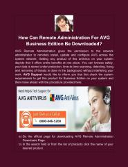 How Can Remote Administration For AVG Business Edition Be Downloaded.pdf