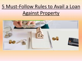 5 Rules to Follow When Purchasing a Loan Against Property.pdf
