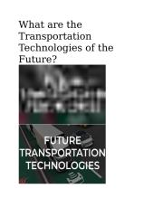 What are the Transportation Technologies of the Future.docx