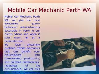 Mobile Car Mechanic Perth WA.ppt