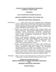 UU No 22 Tahun 2009 Tentang LALU LINTAS ANGKATAN JALAN (LLAJ).doc
